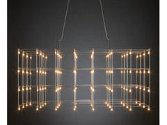 - LED nickel pendant lamp UNIVERSE SQUARE - Quasar