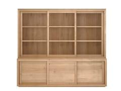 - Oak highboard with sliding doors OAK PURE | Oak highboard - Ethnicraft