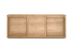 - Solid wood sideboard with sliding doors OAK PURE | Solid wood sideboard - Ethnicraft