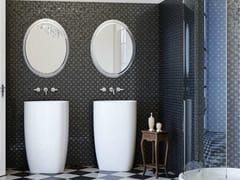 - Freestanding ceramic washbasin BEYOND | Freestanding washbasin - Glass 1989