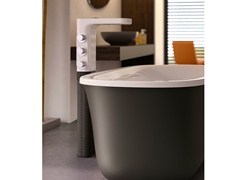 - Floor standing ceramic bathtub mixer BABELE | Bathtub mixer - Glass 1989