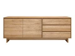 - Solid wood sideboard with doors with drawers OAK WAVE | Sideboard - Ethnicraft