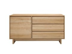 - Solid wood sideboard with doors with drawers OAK WAVE | Solid wood sideboard - Ethnicraft
