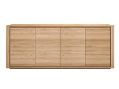 - Solid wood sideboard with doors OAK SHADOW | Solid wood sideboard - Ethnicraft