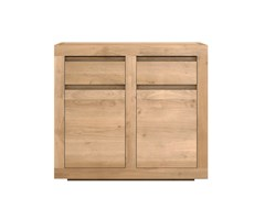 - Solid wood sideboard with doors and drawers OAK FLAT | Solid wood sideboard - Ethnicraft