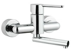 - 2 hole wall-mounted kitchen mixer tap NOIR | Wall-mounted kitchen mixer tap - Rubinetterie Mariani