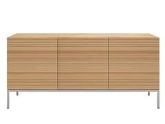 - Solid wood sideboard with doors OAK STONECUT | Sideboard - Ethnicraft
