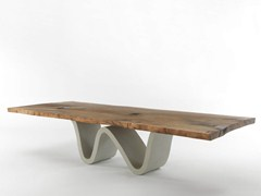 - Rectangular solid wood table AUCKLAND BREE E ONDA - Riva 1920