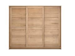 - Solid wood wardrobe with sliding doors OAK KNOCKDOWN | Wardrobe - Ethnicraft
