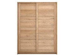 - Solid wood wardrobe with sliding doors OAK KNOCKDOWN | Wardrobe with sliding doors - Ethnicraft