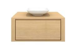 - Single wall-mounted solid wood vanity unit OAK SHADOW | Single vanity unit - Ethnicraft