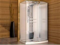 - Corner multifunction steam shower cabin MYNIMA 140 - Jacuzzi Europe