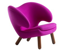 - Upholstered fabric easy chair with armrests PELICAN | Easy chair - Onecollection
