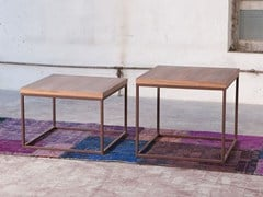 - Square wood veneer coffee table for living room MEISEL - Domingo Salotti