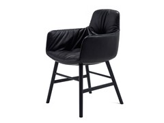 - Leather chair with armrests LEYA ARMCHAIR HIGH | Leather chair - FREIFRAU