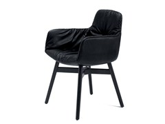- Leather chair with armrests LEYA ARMCHAIR HIGH | Chair with armrests - FREIFRAU