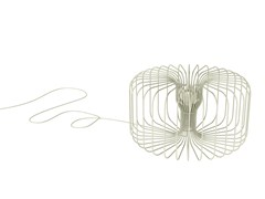 - Fluorescent steel table lamp YU | Table lamp - Marzais Créations