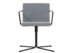 - Upholstered chair with 4-spoke base with armrests ALINE | Chair with 4-spoke base - Inclass Mobles