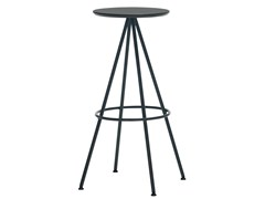 - High trestle-based wooden stool SUN | High stool - Inclass Mobles