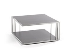 - Low square coffee table with integrated magazine rack SUITE | Square coffee table - FISCHER MÖBEL