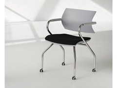 - Training chair with armrests with casters VANILLA HOSPITALITY | Chair with casters - FANTONI