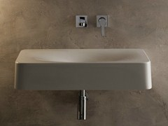 - Wall-mounted ceramic washbasin FUJI | Wall-mounted washbasin - Scarabeo Ceramiche