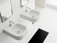 - Wall-mounted ceramic washbasin NEXT 40B - Scarabeo Ceramiche