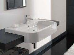 - Semi-inset rectangular ceramic washbasin NEXT 80D - Scarabeo Ceramiche