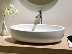 - Countertop oval ceramic washbasin PLANET | Countertop washbasin - Scarabeo Ceramiche