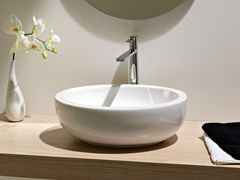 - Countertop oval ceramic washbasin PLANET | Washbasin - Scarabeo Ceramiche