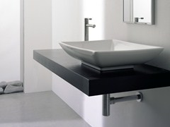 - Countertop rectangular ceramic washbasin KYLIS - Scarabeo Ceramiche