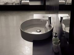 - Semi-inset round ceramic washbasin GEO D - Scarabeo Ceramiche