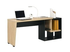 - Writing desk with bookcase URBAN - 8 - GAUTIER FRANCE