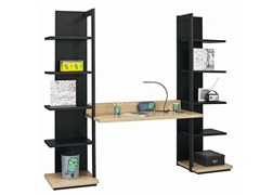 - Writing desk with bookcase URBAN - 13 - GAUTIER FRANCE