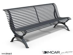 - Metal Bench with back Panchina Clematis dritta - DIMCAR