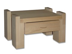 - Rectangular wooden bedside table with drawers KYOTO | Bedside table with drawers - Cinius