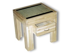 - Rectangular wooden bedside table with drawers TATAMI | Bedside table with drawers - Cinius