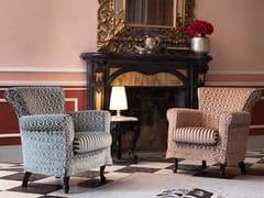 - Upholstered fabric armchair 070 | Armchair - Domingo Salotti