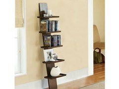 - Open wall-mounted lacquered wooden bookcase YAT | Wall-mounted bookcase - Cinius