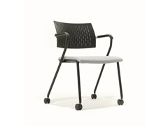 - Training chair with armrests with casters B_CAUSE | Chair with casters - BENE