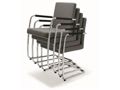 - Cantilever stackable fabric chair DEXTER | Fabric chair - BENE