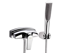 - Wall-mounted bathtub mixer with hand shower ATMOS | Wall-mounted bathtub mixer - Remer Rubinetterie