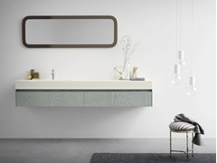 - Wall-mounted vanity unit with drawers MOODE | Vanity unit with drawers - Rexa Design