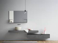 - Single wall-mounted ecomalta vanity unit MOODE | Ecomalta vanity unit - Rexa Design