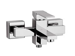 - Wall-mounted single handle bathtub mixer QUBIKA | Bathtub mixer - Remer Rubinetterie