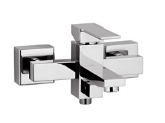 - Wall-mounted single handle bathtub mixer QUBIKA | Bathtub mixer - Remer Rubinetterie