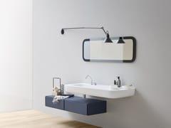 - Corian® washbasin with integrated countertop ESPERANTO | Corian® washbasin - Rexa Design
