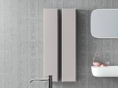 - Tall bathroom cabinet with doors ESPERANTO | Tall bathroom cabinet - Rexa Design