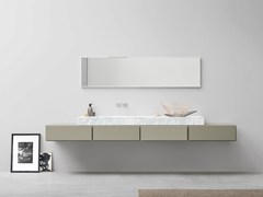 - Lacquered single vanity unit ESPERANTO | Lacquered vanity unit - Rexa Design