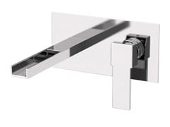 - Wall-mounted washbasin mixer with plate QUBIKA CASCATA | Wall-mounted washbasin mixer - Remer Rubinetterie